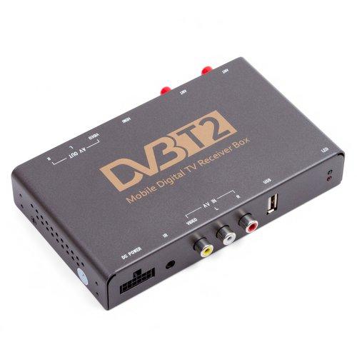 Автомобильный цифровой тюнер DVB-T2 HEVC с видеовходом