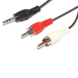 AUX кабель 2×RCA роз'єм 3.5 мм довжина 1.2 м