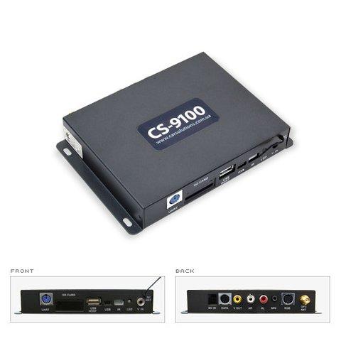 Módulo de navegación GPS para autos CS9100RV con 2 entradas para video