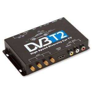 Car DVB T2 TV Receiver with 4 Antennas