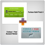 Furious 1 Year Account Renew + Furious Gold Pack 4