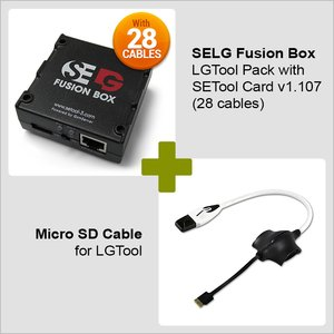 SELG Fusion Box LGTool Pack with SETool Card v1.107  (19 cables) + Micro SD Cable for LGTool