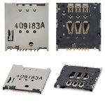 SIM Card Connector compatible with Motorola XT1032 Moto G, XT1033 Moto G, XT1036 Moto G, XT890 RAZR i, XT910 Droid RAZR, XT912 RAZR MAXX