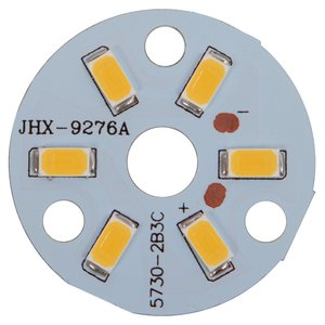 Плата со светодиодами 3 Вт (теплый белый, 350 лм, 32 мм)