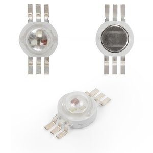 Светодиод 3 Вт (RGB, 6 контактов, 350 мА)