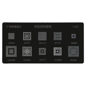 BGA-трафарет G1022 для мобильного телефона All Brands universal, AK8803/Jz4775/88AP166/Jz4750/AK6803/A10/A20/TCC8803/Jz4740/JZ4760B/RK3066