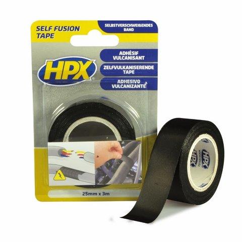 Стрічка вулканізуюча HPX 19 мм, 10 м, чорна картонна упаковка