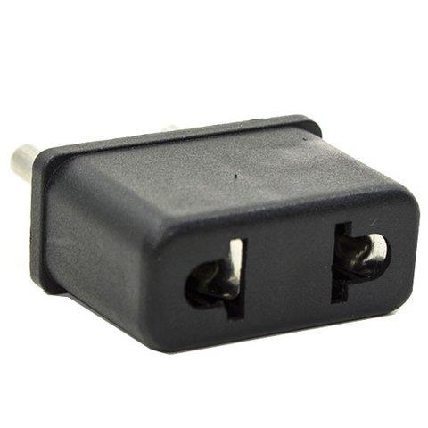 Mains Adapter, US EU, Black