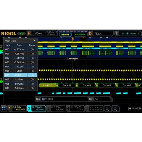 Software Option RIGOL DS7000 AUDIO for Decoding I2S